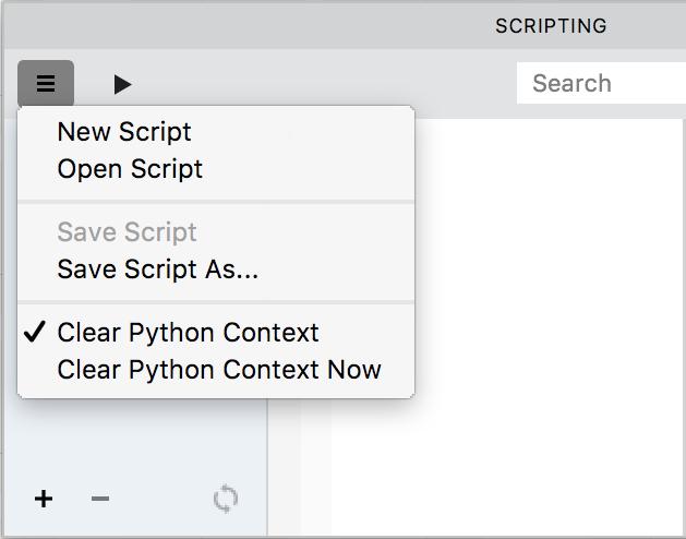 Scripting panel - FontLab VI Help